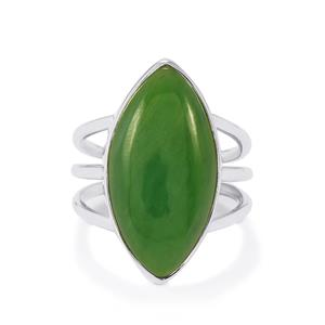 12ct Nephrite Jade Sterling Silver Aryonna Ring