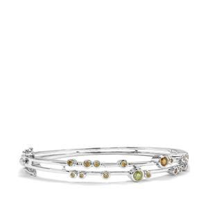 Morafeno Sphene Oval Bangle with Ambilobe Sphene in Sterling Silver 1.57cts