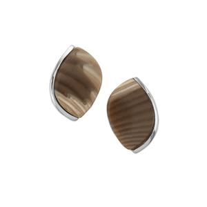 12ct Cappuccino Flint Sterling Silver Aryonna Earring