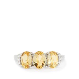 Ouro Preto Imperial Topaz & White Zircon 10K White Gold Ring ATGW 2.43cts