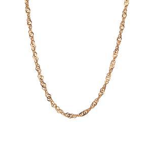 "18"" 9K Gold Classico Twist Curb Chain 3.30g"