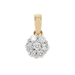Canadian Diamond Pendant in 18K Gold 0.26ct