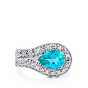 Batalha Topaz Ring with White Topaz in Sterling Silver 2.27cts