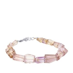 Ametrine Tumbled Bracelet in Sterling Silver 80cts