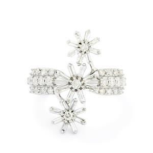 1ct Certified Diamond 10K White Gold Ring