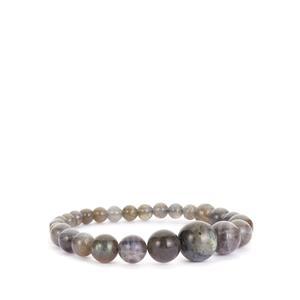 Labradorite Elaticated Bracelet 107cts