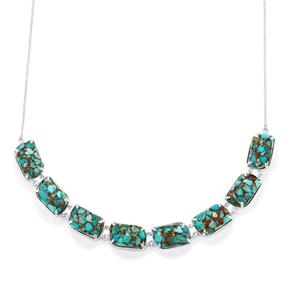 58.29ct Egyptian Turquoise Sterling Silver Necklace