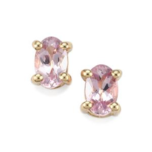 Imperial Pink Topaz Earrings in 10K Gold 0.72ct