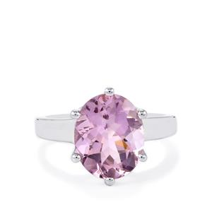 Rose De France Amethyst Ring in Sterling Silver 5.04cts