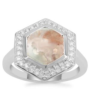 Aquaprase™ Ring with White Zircon in Sterling Silver 3.49cts