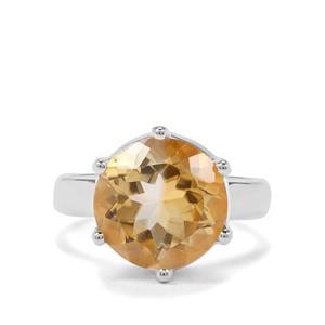6ct Diamantina Citrine Sterling Silver Aryonna Ring