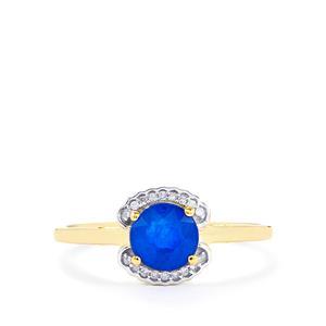 Santorinite™ Blue Spinel & Diamond 10K Gold Ring ATGW 1.11cts
