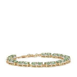 11.11ct Odisha Kyanite 10K Gold Tomas Rae Bracelet