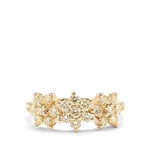 0.98ct Natural Yellow Diamond 18K Gold Tomas Rae Ring