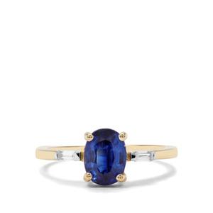 Nilamani & White Zircon 9K Gold Ring ATGW 1.95cts