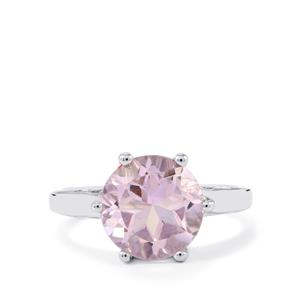 Rose De France Amethyst Ring in Sterling Silver 3.42cts