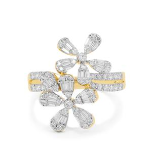 SI Diamond Ring in 18K Gold 1cts