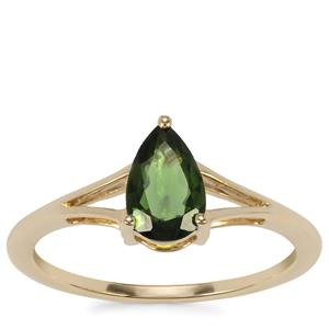 Chrome Tourmaline Ring in 9K Gold 0.72ct