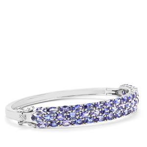 Tanzanite Oval Bangle in Sterling Silver 10.70cts