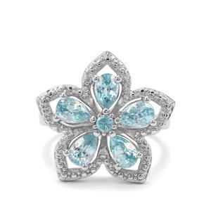 3.47ct Ratanakiri Blue Zircon Sterling Silver Ring