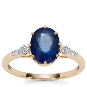 Santorinite™ Blue Spinel Ring with White Zircon in 9K Gold 2.18cts