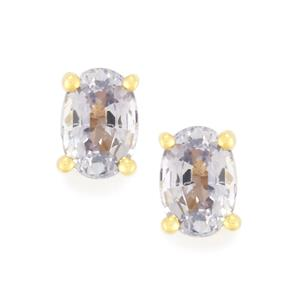 Madagascan Blue Sapphire Earrings in 9K Gold 1.22cts