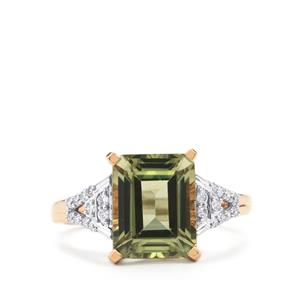 Csarite® Ring with Diamond in 18K Rose Gold 3.79cts