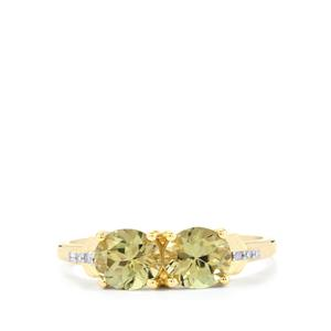 Csarite® Ring with Diamond in 10k Gold 1.94cts