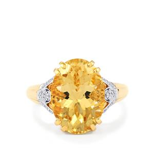 Serenite Ring with Diamond in 14k Gold 5.29cts