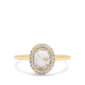 1.62ct Rose Cut Ratanakiri Zircon 9K Gold Ring