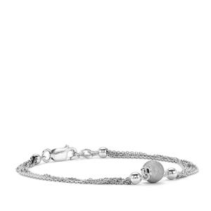 Altro Diamond Cut Station Bracelet in Sterling Silver 2.78g