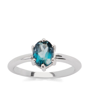 1.55ct London Blue Topaz Sterling Silver Ring