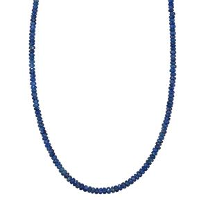 45ct Burmese Blue Sapphire Sterling Silver Bead Necklace