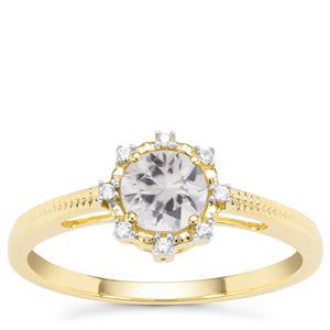 Singida Tanzanian Zircon Ring with White Zircon in 9K Gold 0.84ct