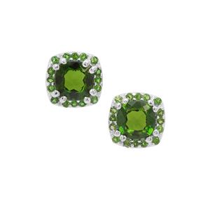 1.42ct Chrome Diopside Sterling Silver Earrings