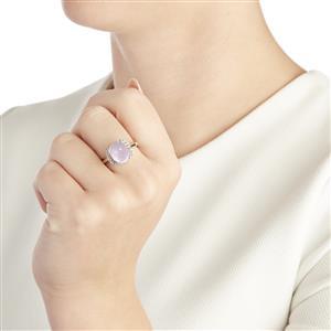 Mawi Kunzite & White Topaz Sterling Silver Ring ATGW 6.36cts