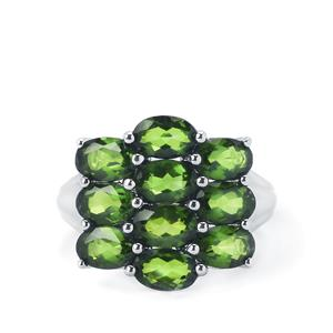 4.86cts Chrome Diopside Sterling Silver Ring