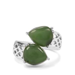 7.16ct Genuine Jade Sterling Silver Ring