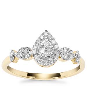 Argyle Diamond Ring in 9K Gold 0.27ct