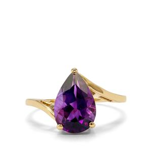 2.59ct Moroccan Amethyst 10K Gold Ring