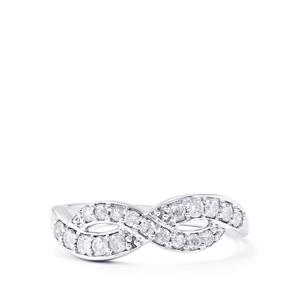 2/3ct Diamond Sterling Silver Ring