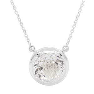 Eden Cut Optic Quartz Necklace in Britannia Silver 8.47cts