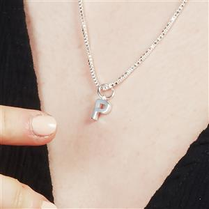 Molte P Letter Charm in Sterling Silver