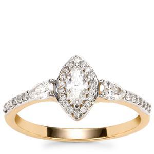 Fancy Diamond Ring in 18k Gold 0.55ct