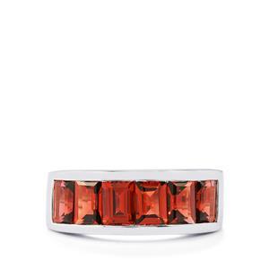 4.49ct Rajasthan Garnet Sterling Silver Ring