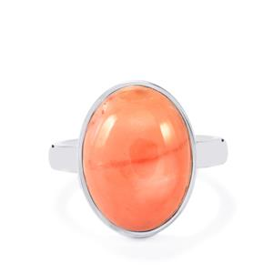 Pink Lady Opal Ring in Sterling Silver 5.92cts