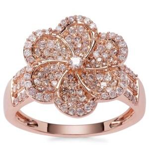 Pink Diamond Ring in 9K Rose Gold 0.76ct