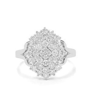 1ct Argyle Diamond 9K White Gold Ring