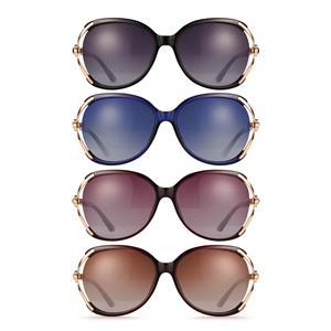 Flower Design UV400 Sunglasses with Gemstones