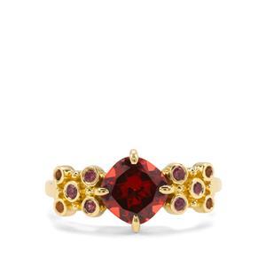 Rajasthan Garnet & Diamantina Citrine 9K Gold Ring ATGW 1.88cts